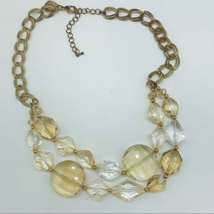 Jewelry - Necklace layered Champagne Faceted Acrylic Beads
